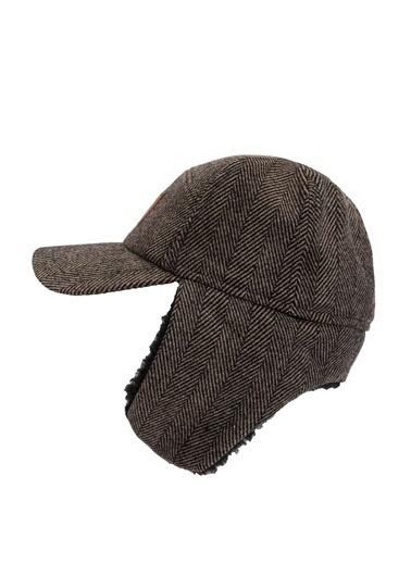 DeFacto Baskılı Kulaklı Şapka Kahve